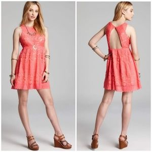 Free People SIze 2 Rocco Lace Open Back Dress